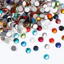 Multicolore SS3-SS34 White AB Glass Rhinestones For Nails Art Decorations Glitter Garment Beads FlatBack Strass Crystal 060