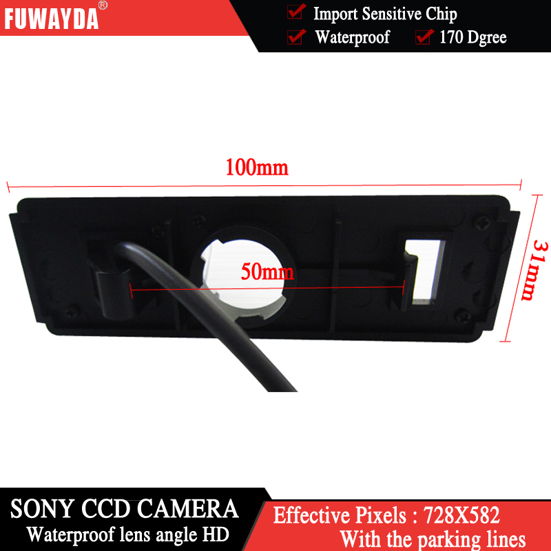 FUWAYDA SONYCCD Chip Car RearView Reverse Backup Parking Safety DVD GPS Navigation Kits CAMERA for MITSUBISHI GRANDIS WATERPROOF