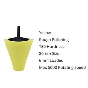 Image 3 - 3Pcs/Set Car Wheel Rim Foam Sponge Polishing Pad Cone Shaped Buffing Pads For Car Wheel Hub Auto Cleaning Tool Accessories