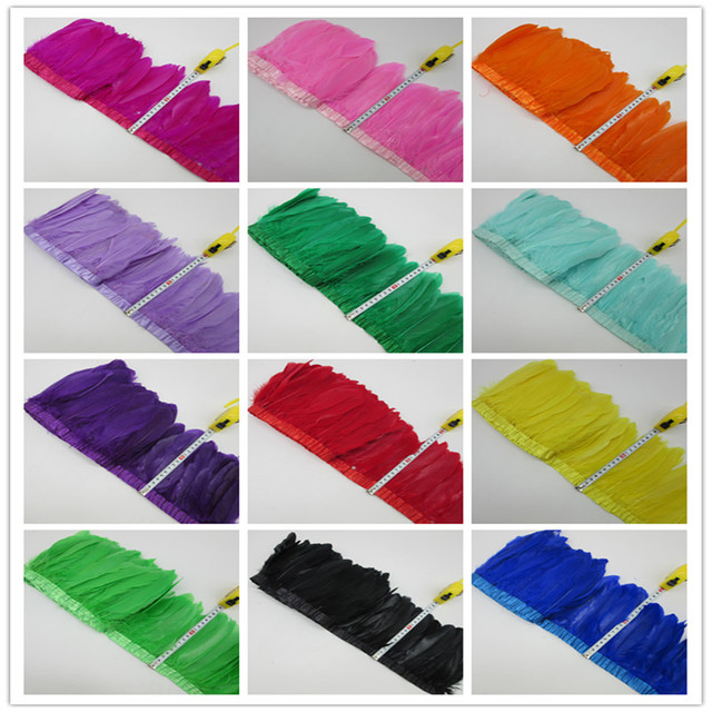 wholesale! High quality 10 yards Swan Goose feathers trim / edge / ribbons for clothing accessories accessories Free Shipping