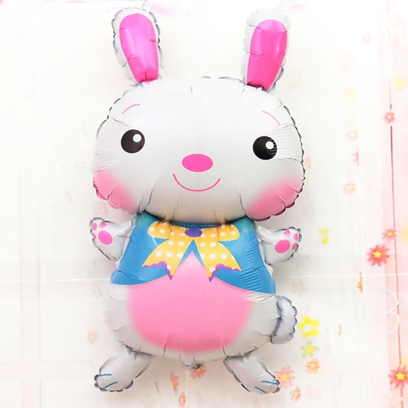 Пасхальные игрушки, большие Мультяшные воздушные шары в виде животных, Пасхальный кролик, стандартные воздушные шары, сувениры вечерние ве...