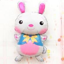Brinquedos de páscoa grande dos desenhos animados animais balão de folha de coelho de páscoa balões de hélio festa de aniversário favores decorações de festa de aniversário crianças