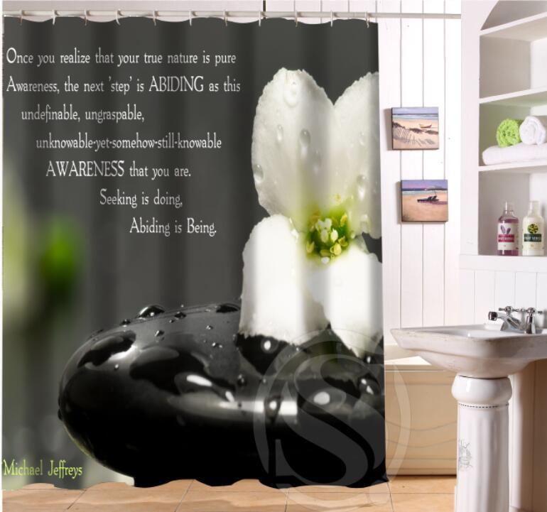 Custom Home Decor Zen Stone Fabric Moden Shower Curtain Bathroom Waterproof Free Shipping Sq0624 0yu6781