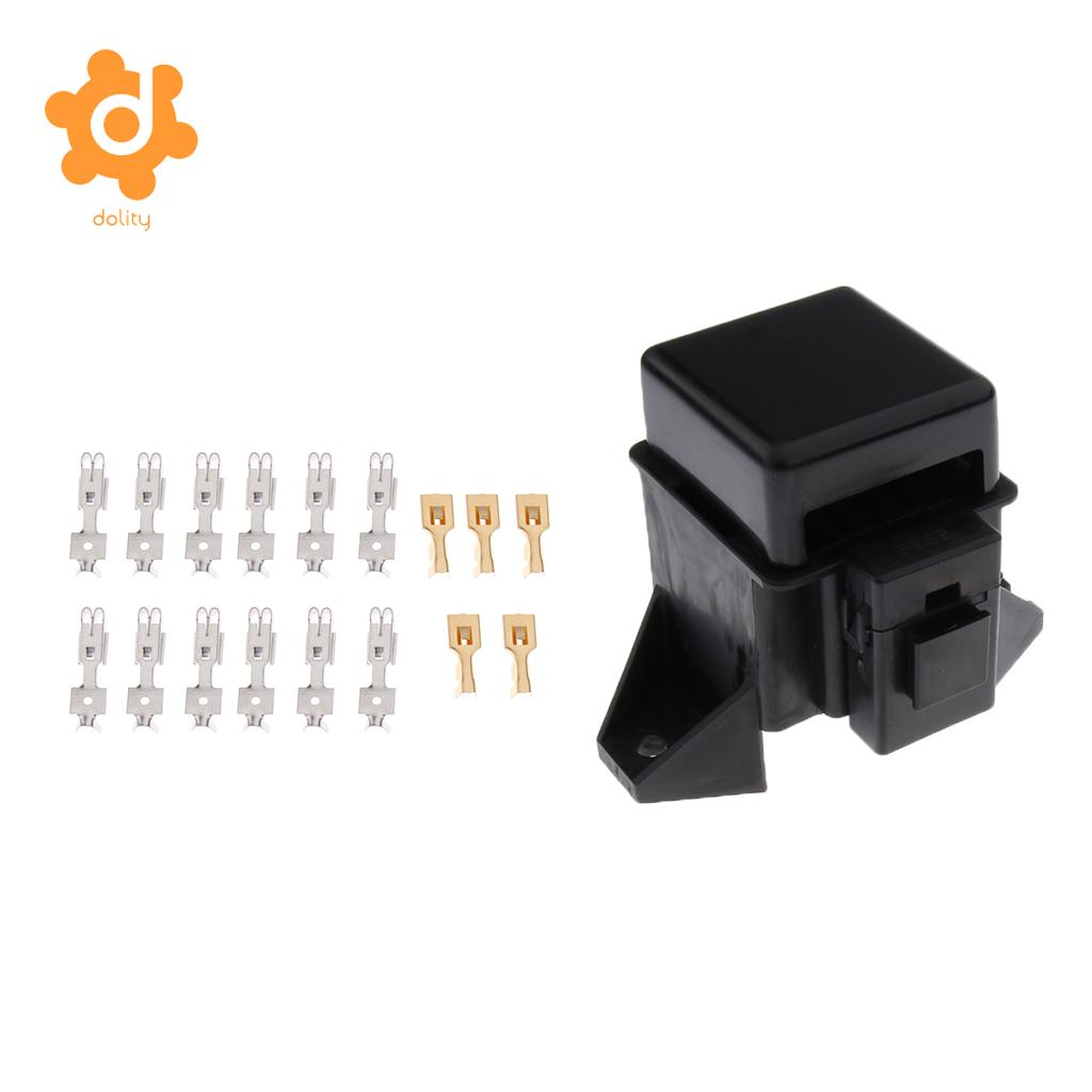 Car 18 Way Blade Fuse Holder 10 Relay Socket Fusebox Box Clamps Automotive Boat 6 Middle Ato Atc Block With Terminals