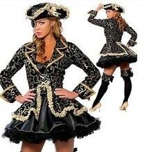 Disfraces de Halloween para las mujeres muchacha Piratas del Caribe vestido  adultos reina traje chica 9588d1bc4c8