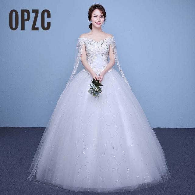 4 Design Real Photo simple Fashion Wedding Dress 2017 New Arrival ...