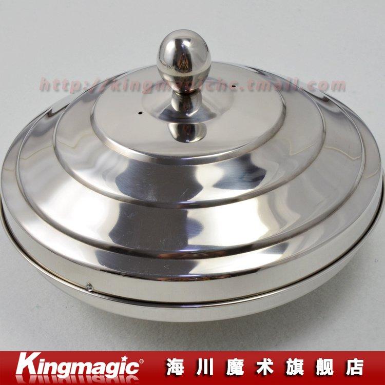 20.5x16 cm (dia. xhauteur) colombe Pan acier inoxydable Double charge étape magique accessoire magique jouet magique bonne qualité livraison gratuite