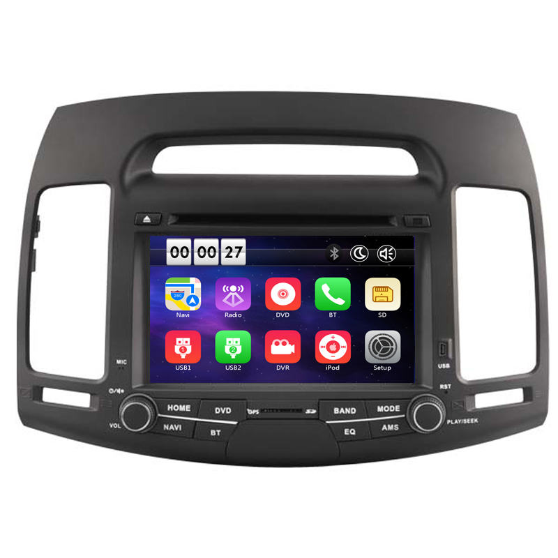 2 DIN dvd-плеер автомобиля GPS Радио для Hyundai elantra 2007-2011 навигации телефон зеркало HD мультимедийный OBD2 3G WI-FI DVR 1080 P
