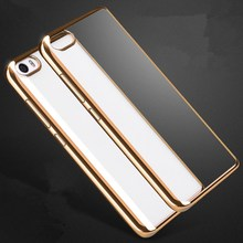 New  Luxury Ultra Thin Clear Crystal for xiaomi mi5 Rubber Plating Electroplating TPU Soft Mobile Phone Case Cover bag