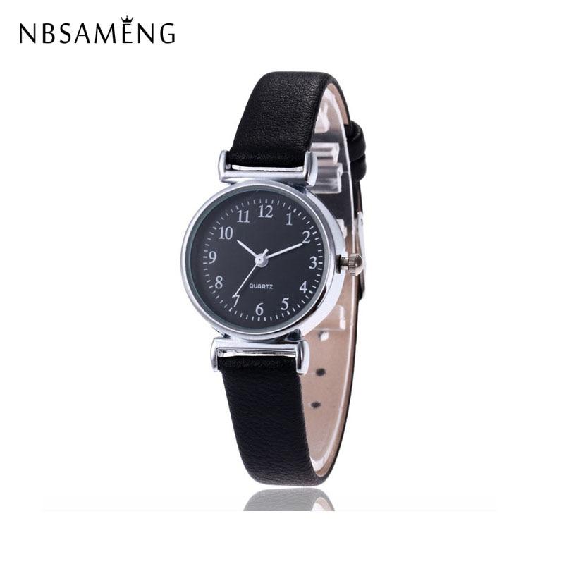 1470fade5b16 Nueva marca de lujo mujer reloj Ultra delgado Vintage banda de cuero reloj  de cuarzo amantes de la moda del reloj de la señora ocasional clásico  Relojes