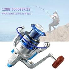 5000 Series 12 Ball Bearings 5.2:1 Fishing Reel Fishing Spinning Reel Fishing Tackle Reel цены онлайн