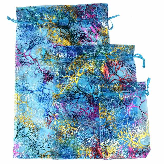Chanfar Favor Wedding Organza Christmas Gift Bags Drawable Packaging Bags 4