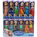 Aisha Boneca 17cm Elsa Toys Dolls  Anna Elsa Princess Cartoon Dolls For Kids Girls Children Boneca Brinquedos
