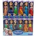 Boneca 17 cm Brinquedos Bonecas Anna Elsa Aisha Elsa Princesa Dos Desenhos Animados Boneca Brinquedos Bonecas Para Crianças Meninas Crianças