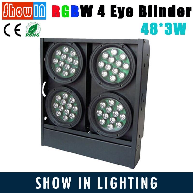 150W LED Matrix Blinder Bar Background 48*3W RGBW 230V DMX512 DJ Disco Party Wedding Stage Lighting Projector Free Shipping