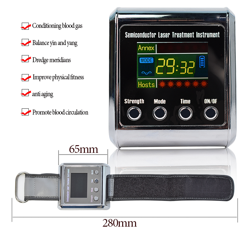 Health 650nm diode laser Physiotherapy Device LLLT For hypertension cerebral diabetes rhinitis cholesterol thrombosis treatment diode 650nm laser lllt physiotherapy therapy watch for diabetes cholesterol hypertension cerebral thrombosis rhinitis treatment