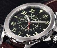 מזדמן מכאני שעון Parnis 44mm החדש Tourbillon GMT אוטומטי שעון מכאני עמיד למים שעון יד Montre Homme-בשעונים מכניים מתוך שעונים באתר