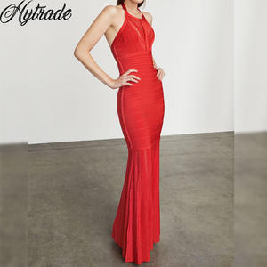 Hytrade 2018 Evening Gown Party Red Maxi Bandage Dress 741bbccb13c2