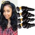 7A Adina Brazilian Virgin Hair Loose Wave 4 Bundles Human Hair Extensions Brazilian Loose Wave Virgin Hair Weave Bundles