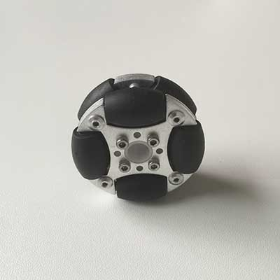 48mm duplo de alumínio roda omni