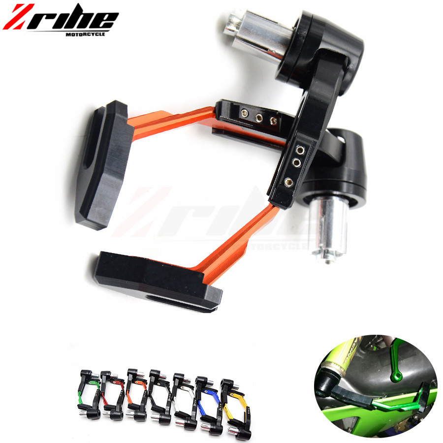 Universal 7/8 Adjustable Motorcycle Handle Bar Grips motorbike Brake Clutch Levers Protector guard for KTM 690 Duke/SMC/SMCR mtkracing cnc aluminum brake clutch levers set short adjustable lever for ktm adventure 1050 690 duke smc smcr 690 enduro r