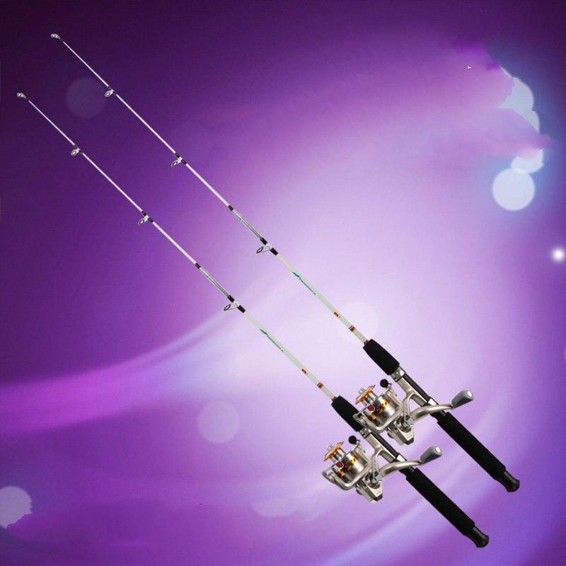 Neue Ankunft 1,2 mt//1,35 mt//1,5 mt//1,8 mt//2,1 mt 2 Sec Spinning Rod M Power Fiberglas faser Locken Spinnrad Angelrute
