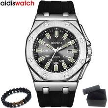 למעלה מותג ADDIES ספורט שעון גברים יוקרה שעונים Mens Relogio Masculino 2020 החדש סיליקון קוורץ צבא הצבאי שעוני יד שעון