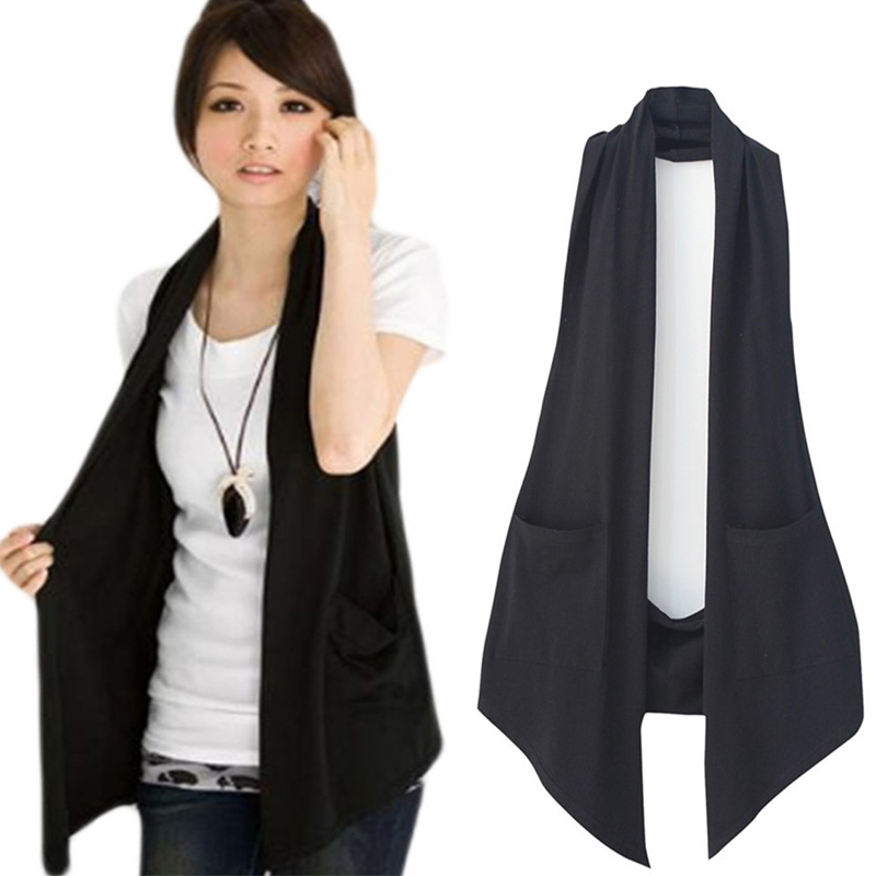 New Spring 2020 Women's All-match Slim Black Colete Vest Women Casual Waistcoat Vests Ladies Fashion Clothing Plus Size M-4XL