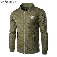 2016 New Spring Men Casual Aviator Flight Bomber Coat Military Style Nylon Pilot Jackets Army Green