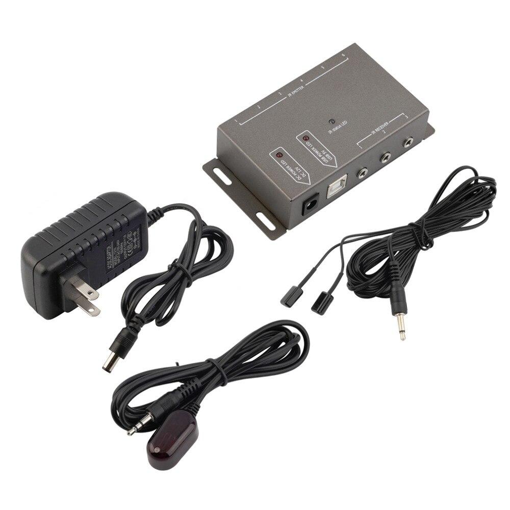 2 X Dual Emitters Ir Infrarood Afstandsbediening Repeater Extender Av Kit 12 V Dc 34-60 Khz 3.5mm Mini Plug 4 Emitters 1 Ontvanger Het Verlichten Van Reuma