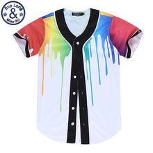 3D T Shirt Summer Style Hip Hop T Shirts Baseball Couple Shirt Print  Colorful Paint Short Sleeve Tops Tee For Women Men c2066bcab93b