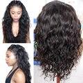 Onda de água Full/Frente Lace Wigs Brasileiro Full Lace Perucas de Cabelo Humano para As Mulheres Negras e Molhado Ondulado Parte Dianteira Do Laço Perucas de Cabelo Humano