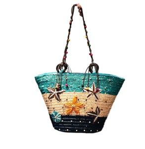 Big Bag Girl Summer 2019 New Fashion Handbag Shoulder Bag Personality Fashion straw bag holiday bag