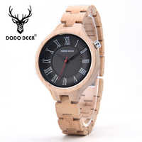 DODO DEER Customized Wood Watches Engraved Women Watches Manual Wood Design Strap Relogio Feminino Ladies And Female Watch A14