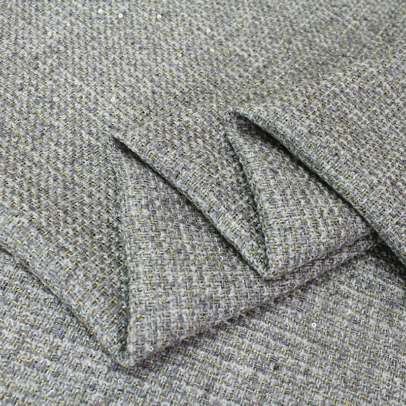1 meter tweed fabric for sewing woolen fabrics worsted cloth 580 g/m overcoat