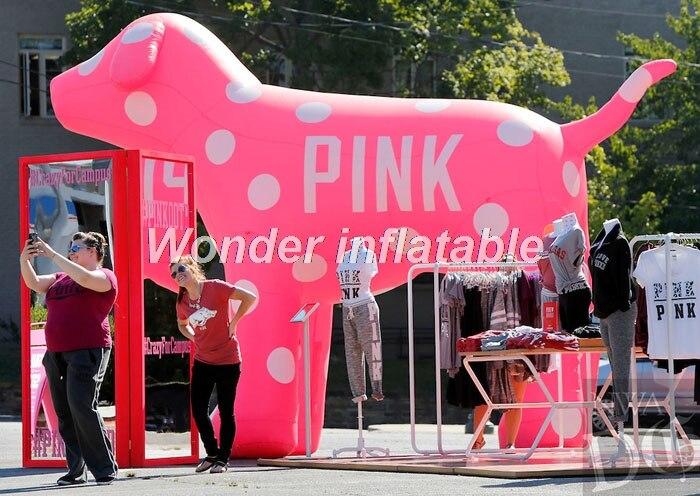 Aufblasbarer rosa Hund des riesigen 10ft Tierballons des heißen - Partyartikel und Dekoration - Foto 1