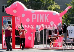 Hot sale giant 10ft animal balloon inflatable pink dog for promotional