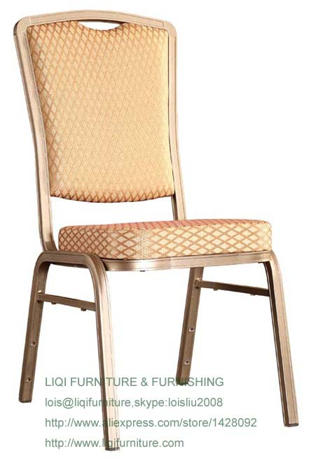 Wholesale Quality Strong Modern Aluminum Stacking Hotel Dining Chairs LQ-L212