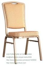 Atacado qualidade forte e moderna de alumínio empilhamento cadeiras de jantar do hotel LQ-L212