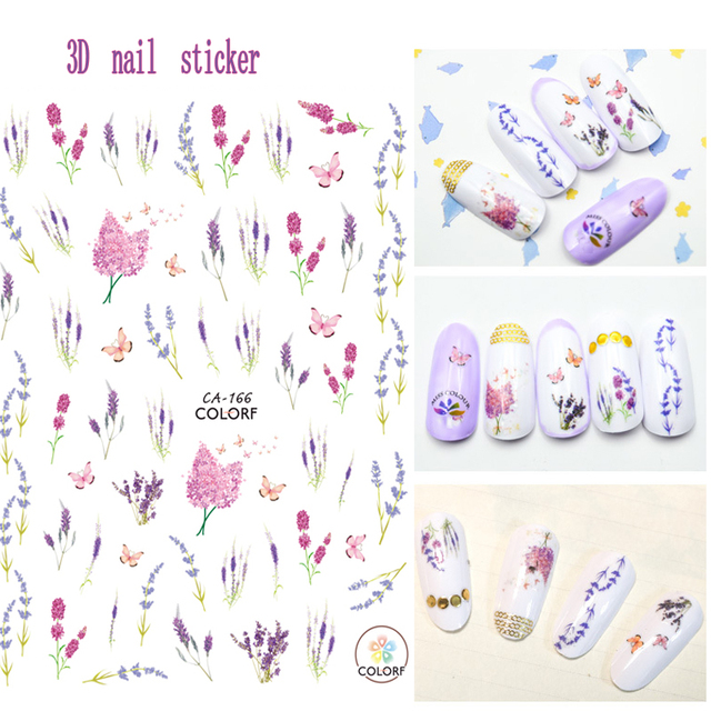 Flower Series 3D Nail Art Stickers Water Decal