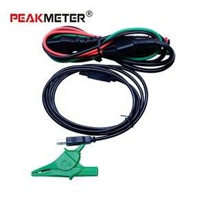 Image 4 - Teste atual/tempo da viagem do multímetro do verificador da resistência do laço de rcd do medidor de resistência de peakmeter pm5910 digitas com relação de usb