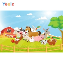 Yeele Cartoon Farm Animal Baby Children Birthday Party Photography Backdrop Custom Photographic Background For Photo Studio