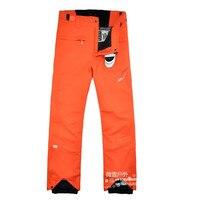 2016 Winter Skiing Pants Men Orange Snowboard Pants Men Ski Wear Outdoor Snowboarding Pants Warm