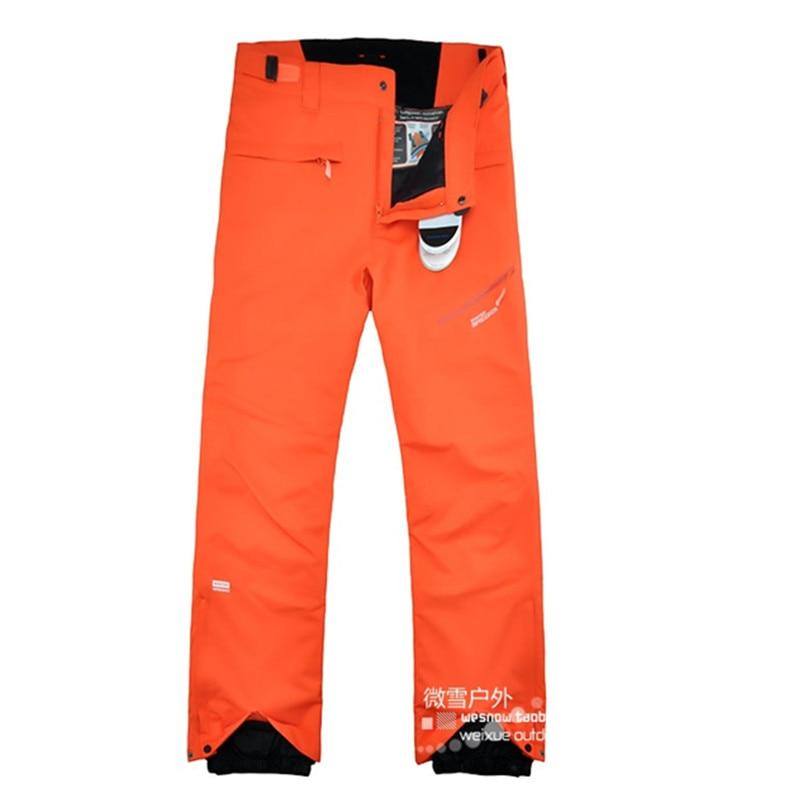 2016 winter skiing pants men orange snowboard pants men font b ski b font wear outdoor