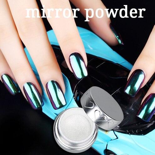 12PCs/Lot Beauty UV Gel Polish Magic Metallic Powder Mirror Effect Powder