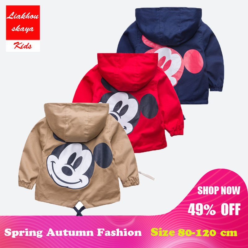 c7674fed3919 Liakhouskaya 2018 Mickey Jacket Clothing Children Clothes For Baby ...