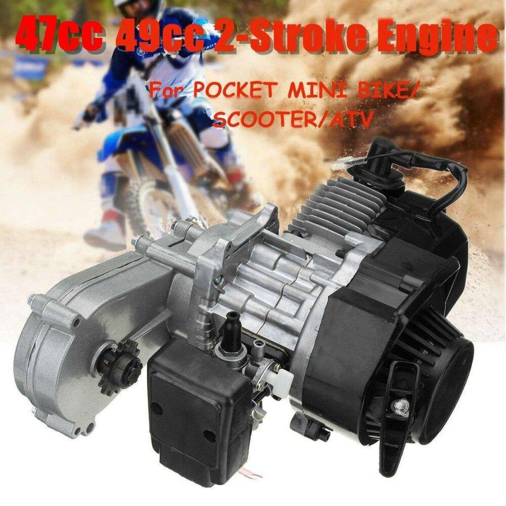 47cc 49cc Engine 2-Stroke Motor with Transmission For Pocket Bike Mini ATV Scooter nb411 ignition coil for robin ec04 bg411 cg411 magneto stator 47cc 49cc 2t atv pocket dirt bike brushcutter ignitor module