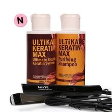 Brazilian Hair Care shampoo+100ML Keratin Moisturizing Treatment Hair + Flat Iron Smoothing Hair Care Tools hair care center