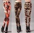 Camuflagem de algodão stretch leggings nova primavera de seda leite impressão nove calças calças em summer