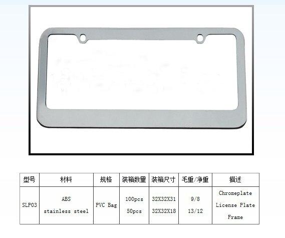 2X SOUL Laser Style Black Stainless Steel License Plate Frame W// Bolt Cap